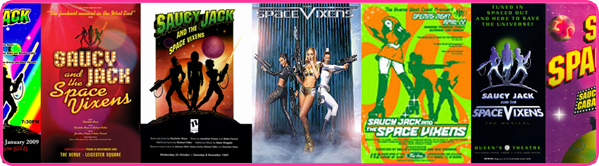 Saucy Jack and The Space Vixens posters